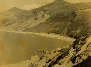Aerial view of Nant Gwrtheyrn and quarries 1968