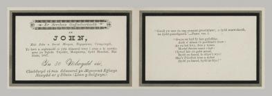 Memorial Card details for John Morgan