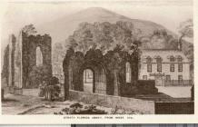 Strata Florida Abbey, engraving dated 1741