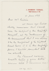 Letter from Sir Henry M. Stanley to Rev. J....