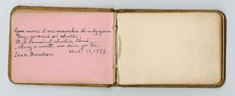 Autograph album, 1921