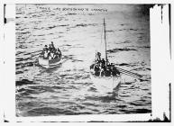 TITANIC life boats on way to CARPATHIA (LOC)