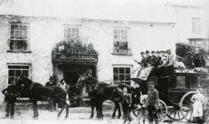 The Newcastle Emlyn to Cardigan stagecoach...