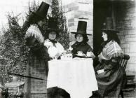 women in 'traditional' Welsh costume