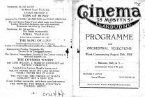 Cinema Llandudno Programme 1924 page 1