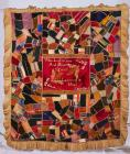 'Crazy patchwork' quilt bearing...
