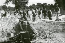 Repairing the bridge at Glanarberth in 1912