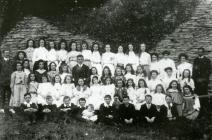 Cilgerran Children's Choir with conductor...