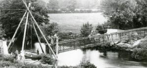 The new footbridge at Aber-cuch, 1908