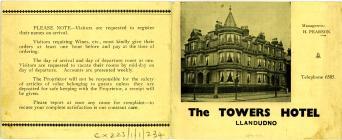 The Towers Hotel Llandudno 1939