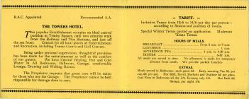 The Towers Hotel Llandudno brochure 1939