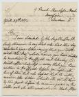 Letter of correspondence concerning Lady...