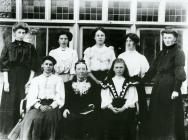A Sunday School class at Glanolmarch House,...