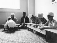 Boys at study, Severn Road Mosque, Cardiff, 1981