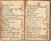 Account book for social event, 1950s