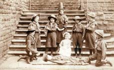 Children in school play