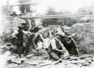 Repairing the bridge at Pont-rhyd-y-ceirt, 1920