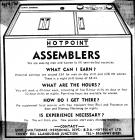 Wanted: Hotpoint Assemblers, Llandudno 1974