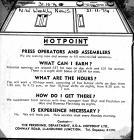Jobs for Men and Women at Hotpoint, Llandudno 1974