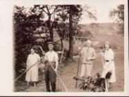 Photograph of haymaking on the farm