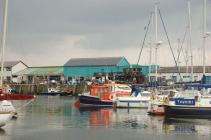 Boats in Aberystwyth Harbour