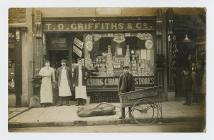 Exterior of T.D. Griffiths' shop in Dinas...