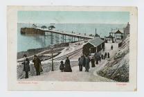 Reverse of postcard of Mumbles Pier, Swansea