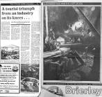 News articles re tourism -1979 Llechwedd Slate...
