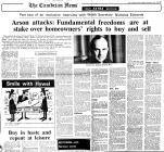 News articles re Second Homes 1980, 1981, 1988,...