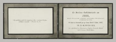 Memorial Card details for John Hughes