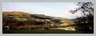 Cwmystwyth panoramic view down the valley