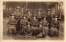post card of WAAC 1918