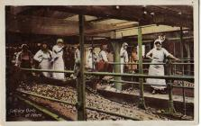 Postcard of 'Colliery Girls at Work'