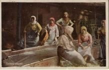 Postcard of colliery lasses