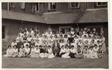 Female students at St Mary's College, Bangor