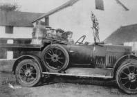 Car with milk churns