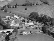 Aerial view of the creamery at Corwen