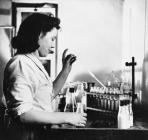 Milk testing at Llandyrnog Creamery
