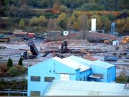 Clear view of demolition at Ebbw Vale