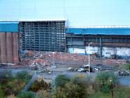 Good image of the site during demolition