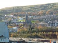 Looking into Ebbw Vale Town via former Steelworks