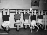 Gymnasts at Rhos-ddu Junior School