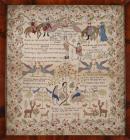 Sampler made by Elizabeth Evans, aged 14,...
