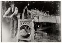 Chopping Hay. Bagillt, 1921