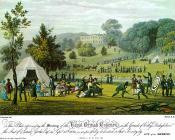 Meet of the Royal British Bowmen, Erddig, 1823