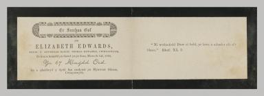 Memorial Card details for Elizabeth Edwards,...