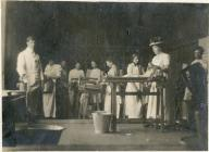 Cheese Factory, Caersws c1920 showing women...