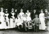The staff at Clyn-fiw, 1906