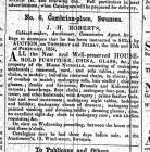 Auction Notice, The Cambrian 10 February 1854