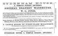 Sydenham House, 3 Temple St, Swansea 1856